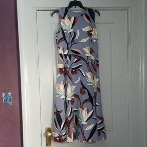 Ann Taylor flower print sleaveless dress